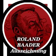 ROLAND BAADER Auszeichnung